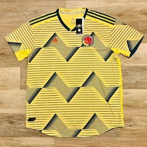 Adidas Shirts - Adidas Columbia 2019 Home Yellow Soccer Jersey